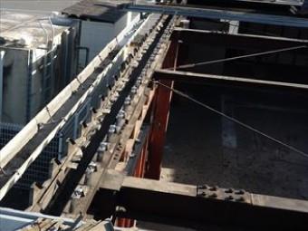 葺き替える部分の屋根材を撤去した状態
