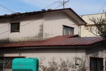 屋根トタン剥がれ横